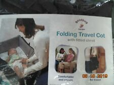 Goldbug Folding Travel Cot with Fitted Sheet 48 x 76cm !!! FREE P&P !!!