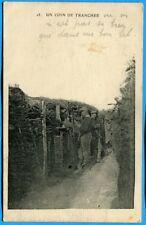 CPA: Un coin de tranchée, ou on n'est pas si bien que dans un bon lit / 1915