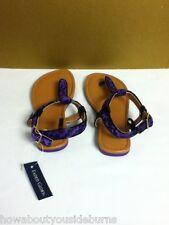 Faded glory walmart brand toddler girl size 13 purple zebra print sandals E8