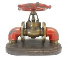 ANTIQUE 1915 ECON BRONZE FIRE FIGHTING VALVE HYDRANT IMPRESSIVE & HUGE 32 LBS.