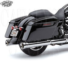 "Cobra 4"" Neighbor Hater Slip-On Chrome Mufflers for Harley Exhaust 2017-2018"