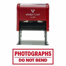 Vivid Stamp Self Inking PHOTOGRAPHS DO NOT BED red Rubber Stamp School E4