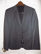 HUGO BOSS SUIT JACKET DARK GREY 2 BUTTON 2 VENT SLIM FIT SIZE 40R - FREE SHIP