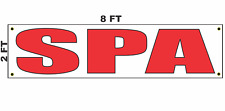 Spa Banner Sign 2x8 for Business Shop Building Store Front Hair Nail or Massage