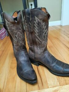 Lucchese Men's size 11.5D -Chocolate Madras Goat -Cowboy Boots
