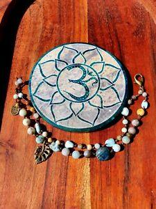 'Island Life' Castaway Bracelet by GypsyLee ♡ Hemp Raw Crystal Bohemian Apatite