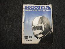 HONDA ORIGINAL SERVICE SHOP REPAIR MANUAL VTR250 VTR 250 INTERCEPTOR 1988-1989