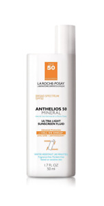 La Roche Posay Anthelios 50 Mineral Ultra Light Sunscreen Fluid 1.7 oz Exp 03/21