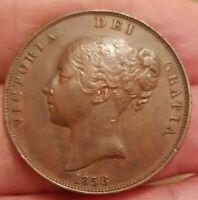 1841-1859 PENNIES VICTORIA BUN HEAD LARGE TYPE CHOICE OF ACTUAL COIN