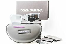 DOLCE & GABBANA DG 6097 2651/6G Gray Rubber Mirrored Sunglasses NWT AUTH