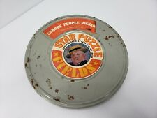 """Vtg - Famous People Jigsaws W.C. Fields - Star Puzzle In 16MM Film Can 18"""" Round"""
