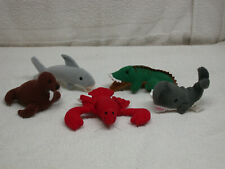 Applause Dakin Mini-Plush SeaWee Pets- Lobster, Whale, Walrus, Shark & Alligator