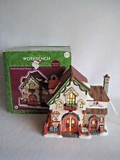 Santa's Workbench Victorian Series Patchworks Quilt Shoppe Christmas Village