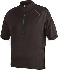 Endura Men's Short Sleeve Cycling Jerseys with Half Zipper