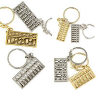 Abacus Keychain Spinning Movable Beads Fashion Style Key Chain Ring Keyrings
