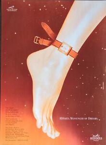 1999 Hermes Belt Watch Pigskin & Alligator  Straps Messenger Dreams Print Ad
