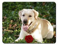 Yellow Labrador with Red Rose Computer Mouse Mat Christmas Gift Idea, AD-L48RM
