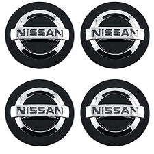 Set of 4 Black Chrome logo Car Alloy Rim Wheel Center Hub Cap for 54mm 2 1/8""
