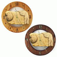 Pekingese Wood Wall Clock Plaque Fawn