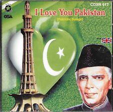I LOVE YOU PAKISTAN (PATRIOTIC SONGS) - BRAND NEW CD - FREE UK POST