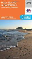 OS Explorer Map (340) Holy Island and Bamburgh by Ordnance Survey | Map Book | 9