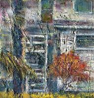 Key West Florida  6x6 in. Original oil on canvas Hall Groat Sr.