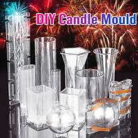 DIY Candle Mould Handmade Craft Candle Making Mould Model Reusable Tools Acrylic