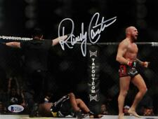 Randy Couture Signed UFC 8x10 Photo With Belt- Beckett Auth *Ref Back Turned