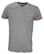 Duck And Cover S Mens Lt Grey Marl Morley V-Neck T-Shirt BNWT New Top DAC150489