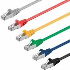 1 m CAT5e Kabel F/UTP Patchkabel DSL LAN Netzwerk Ethernet Gigabit Internet RJ45