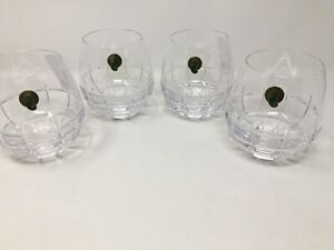 Waterford Crystal Cluin  Stemless Red Wine Glasses  Set of 4 NWT