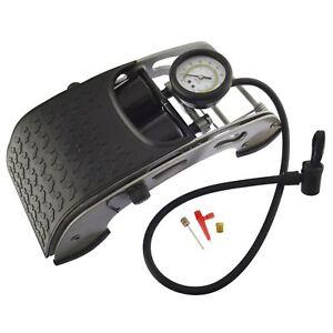 Car Bicycle Foot Pump Air Tyre Inflator Double Barrel Foot pump 0-100psi TE032