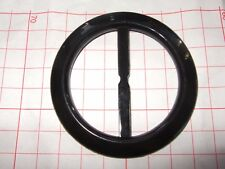 1Black plastic buckle/slide -7 cms diameter for a 5 cms belt.Multiples available