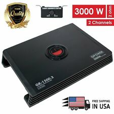 New Gravity 2 Channels 3000 WATTS Class A/B Car Audio Stereo Amplifier |GR1500.2