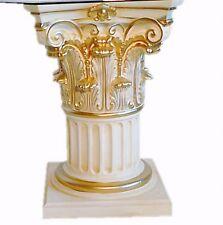 Säule Stuckgips Dekosäule Podest Tisch Wohnen Möbel Säulen Deko 1053 Crem Gold