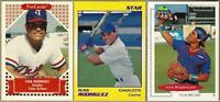1990, 1991 IVAN RODRIGUEZ Minor League 3 Card Lot: Classic, Star, ProCards