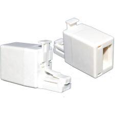 Kauden BK4511 RJ11 UK Plug to RJ45 Socket Line Telephone Adaptor - White