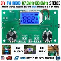 DIY FM Radio Wireless Receiver Module LCD Display DSP PLL 87.0MHz-108.0MHz USA