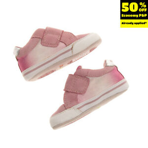 GEOX RESPIRA Kids Sneakers EU 17 UK 1.5 US 2 Contrast Leather Breathable Ombre