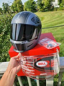 Bell Eliminator Rally Matte Black Grey w. Extra smoke and clear lense sz Medium