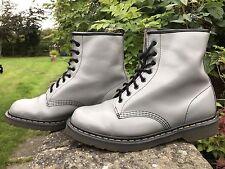 DR MARTENS  1460 Original 8 Hole Grey Milled Leather Boots Size UK 10 EU 45