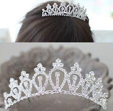 Tiara Diadem Krone Haarschmuck Kopfschmuck Braut Strass Hochzeit Haargesteck NEU