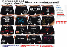 Personalised boxer shorts gift boyfriend husband party wedding Funny SEXY 614