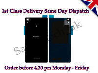 New Sony Xperia Z3 Battery Back Cover Panel Rear Glass With Adhesive Black