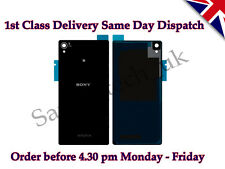 Nuevo Sony Xperia Z3 batería de la contraportada Panel de Vidrio Trasero Con Adhesivo Negro