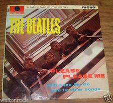 THE BEATLES ~ PLEASE PLEASE ME LP UK 5TH PRESSING + FAN CLUB LETTER ~ EX+