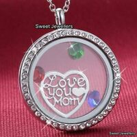 RARE MUM GIFTS For Her Silver Heart Necklace Mom Mother Wife Grandma Lady Women