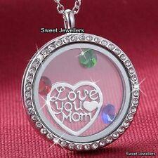 bijoux pour femmes cadeau de Noël sa love you maman Collier médaillon coeur mère