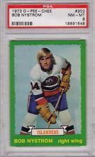 1973 O PEE CHEE #202 Bob Nystrom RC Rookie Islanders PSA 8