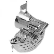 Silver Plated Pirate Ship Money Box Coin Box Christening Special Occasion Gift